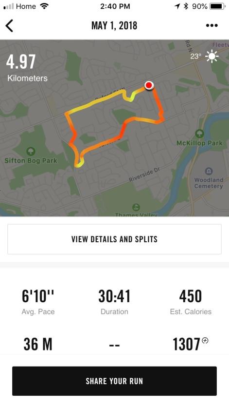 Nike+ report